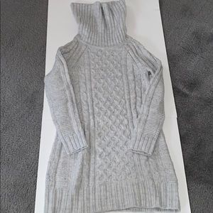 Banana Republic light blue cable knit sweater